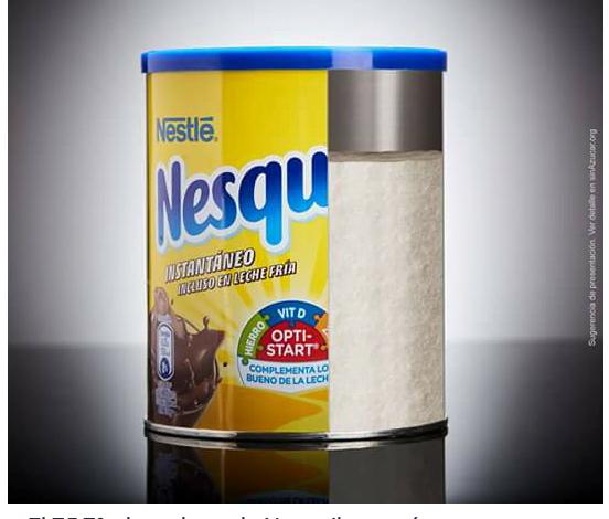 Sabes cuanta azúcar contiene un bote de Nesquik?